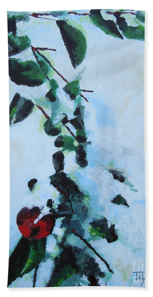 Apple Beach Towel featuring the painting Apple Tree by Tonya Henderson