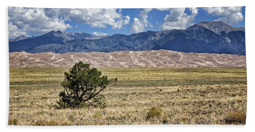 America Beach Towel featuring the photograph Approaching Great Sand Dunes #2 by Nikolyn McDonald