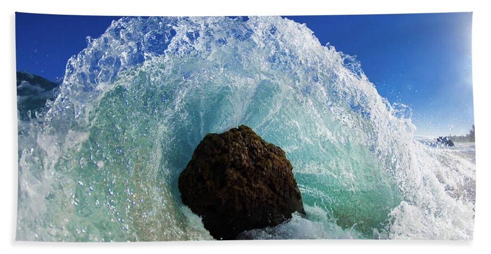 Surf Beach Towel featuring the photograph Aqua Dome by Sean Davey