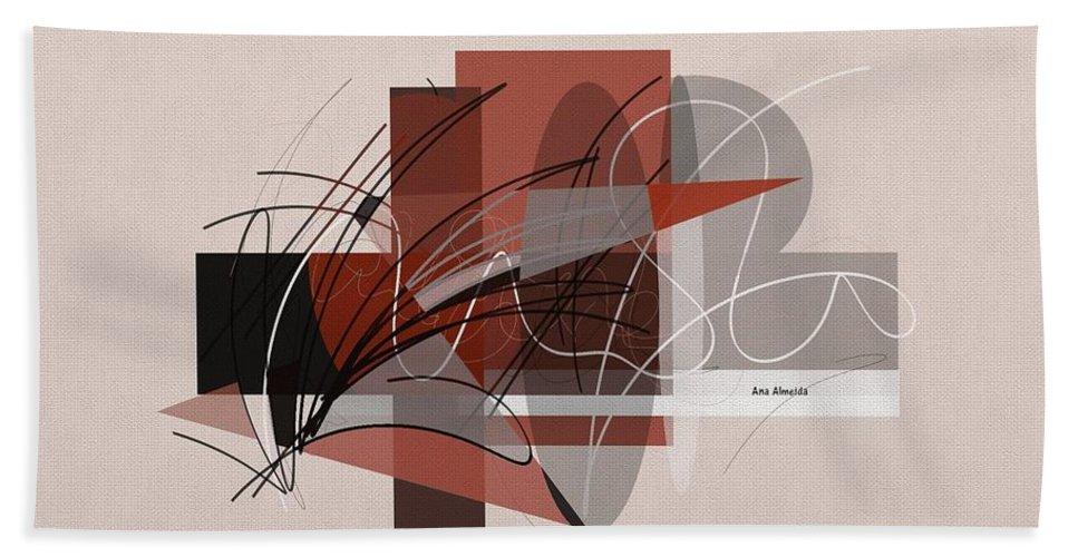 Beach Towel featuring the digital art Arabescos 2 by Ana Almeida