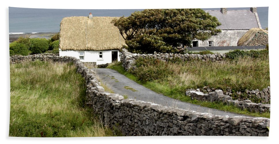Cottage Beach Towel featuring the photograph Aran Cottage by Jean Macaluso