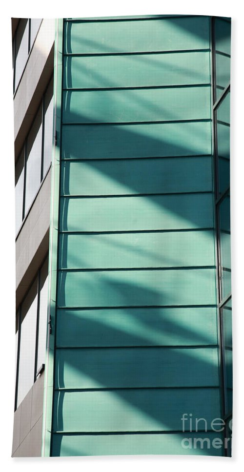 Abstract Beach Towel featuring the photograph Architecture And Shadows by Deborah Benbrook