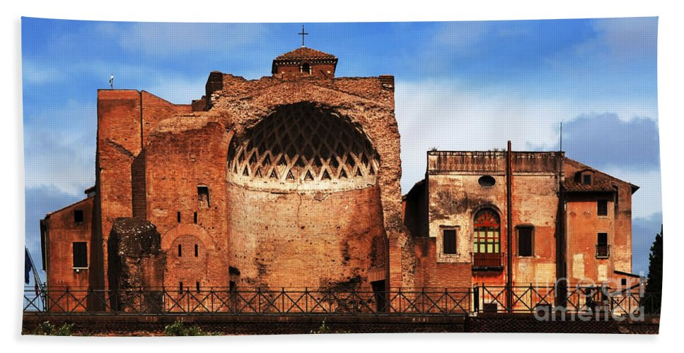 Italy Beach Towel featuring the photograph Architecture Of Italy by Bob Christopher