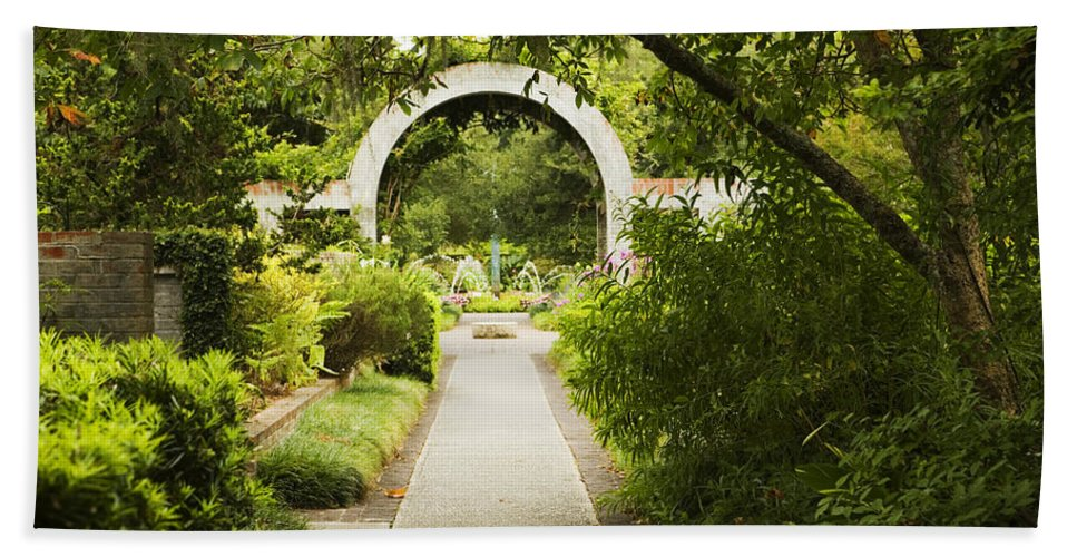 Arch Beach Towel featuring the photograph Archway by Marilyn Hunt