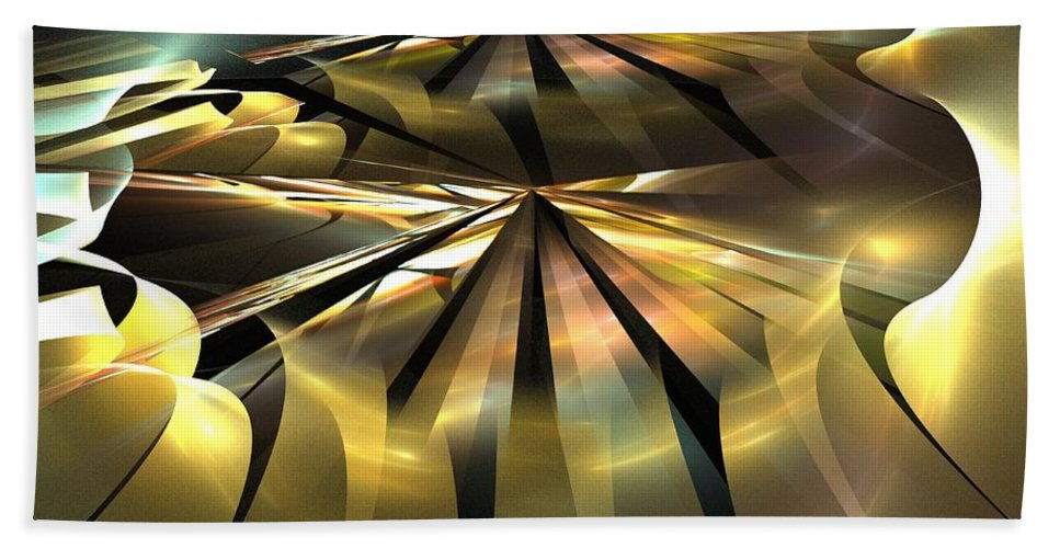 Apophysis Beach Towel featuring the digital art Arcminute by Kim Sy Ok