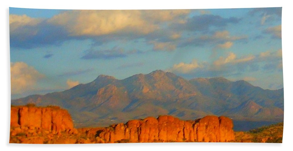 Landscape Beach Towel featuring the photograph Arizona by James Welch