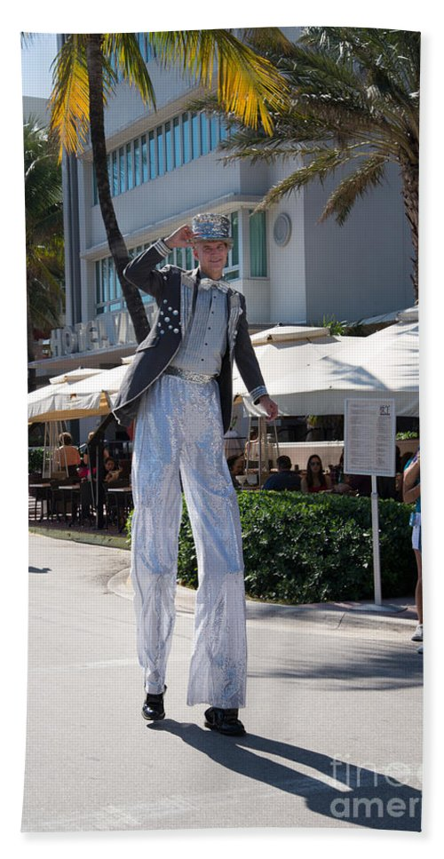 Entertainers Beach Towel featuring the digital art Art Deco Festival Street Scenes by Carol Ailles