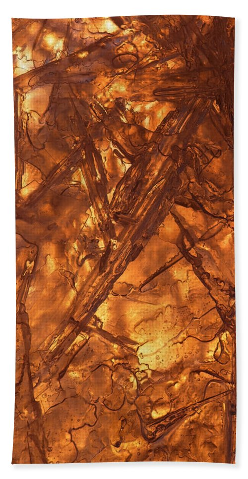 Golden Beach Towel featuring the photograph Art Of Ice 4 by Sami Tiainen