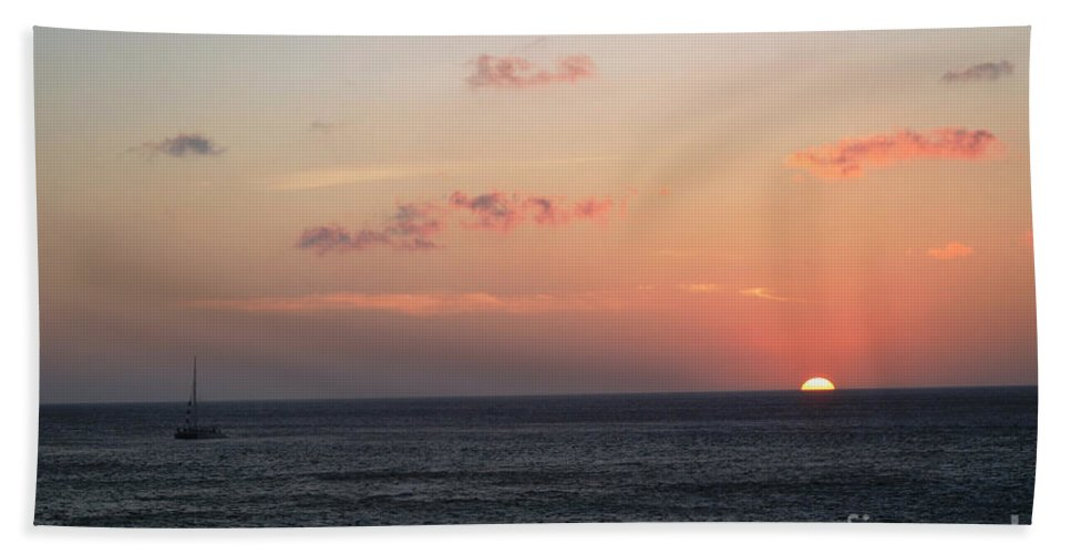 Sunset Beach Towel featuring the photograph Aruba Sunset by Living Color Photography Lorraine Lynch