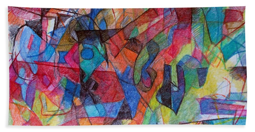 Torah Beach Towel featuring the drawing Asking Another To Understand 1 by David Baruch Wolk