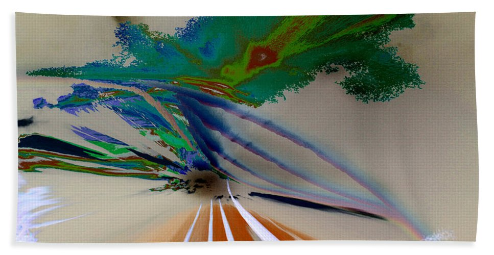 Rainbow Beach Towel featuring the digital art Astract Light by Augusta Stylianou