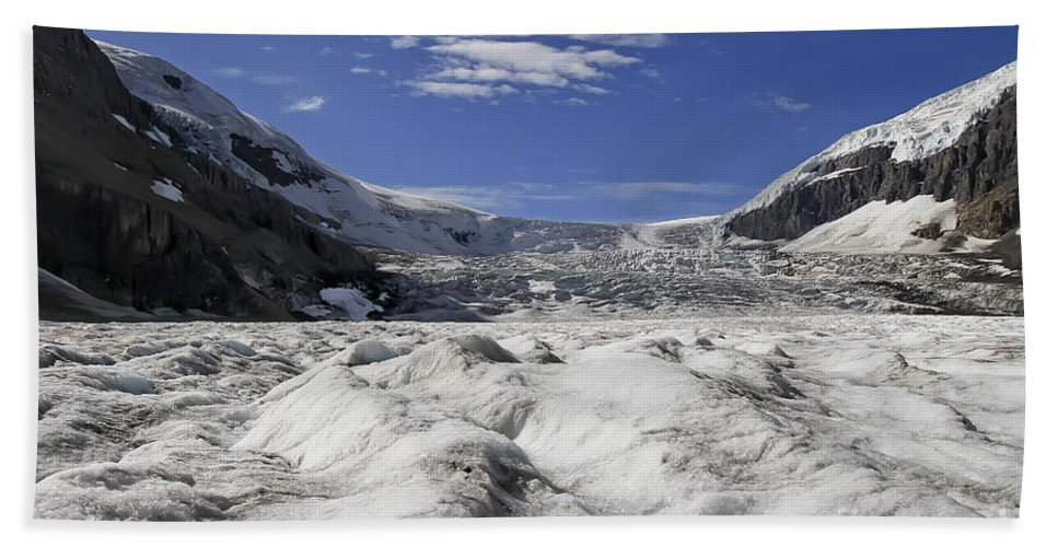 Athabasca Glacier Beach Towel featuring the photograph Athabasca Glacier by Teresa Zieba