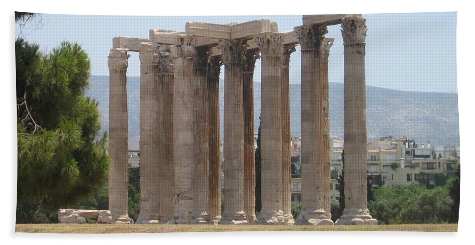 Athens Beach Towel featuring the photograph Athens 1 by Kimberly Maxwell Grantier