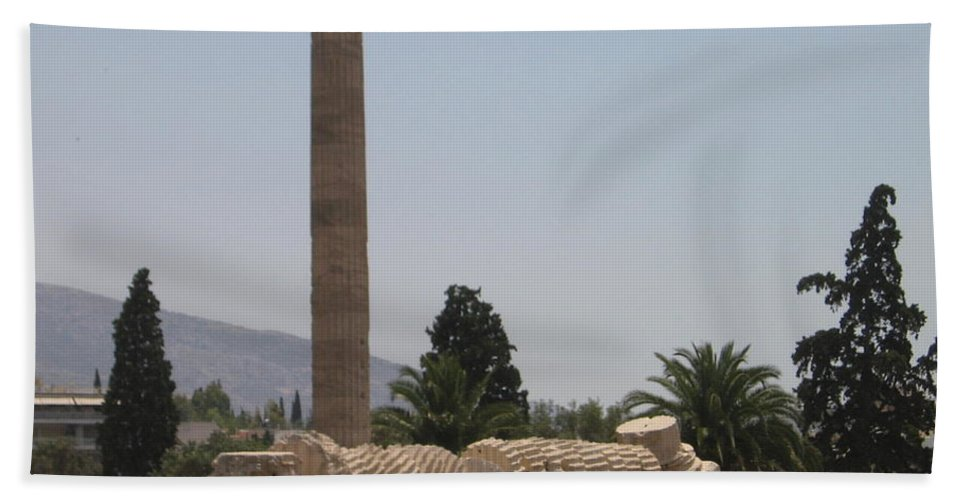 Athens Beach Towel featuring the photograph Athens 2 by Kimberly Maxwell Grantier