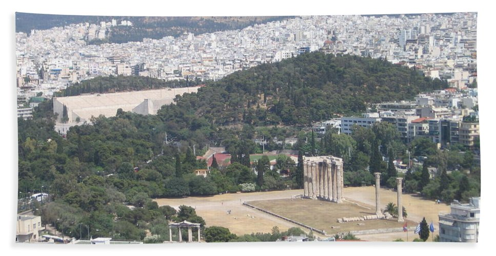 Zeus Beach Towel featuring the photograph Athens 3 by Kimberly Maxwell Grantier