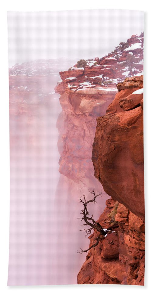 Canyonlands Beach Towel featuring the photograph Atop Canyonlands by Chad Dutson