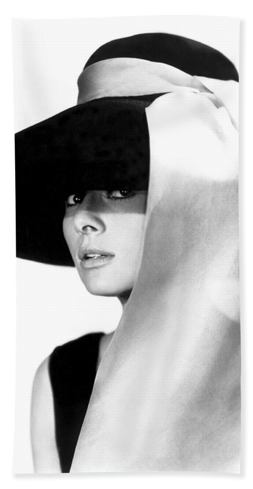 Audrey Beach Towel featuring the photograph Audrey Hepburn by Daniel Hagerman