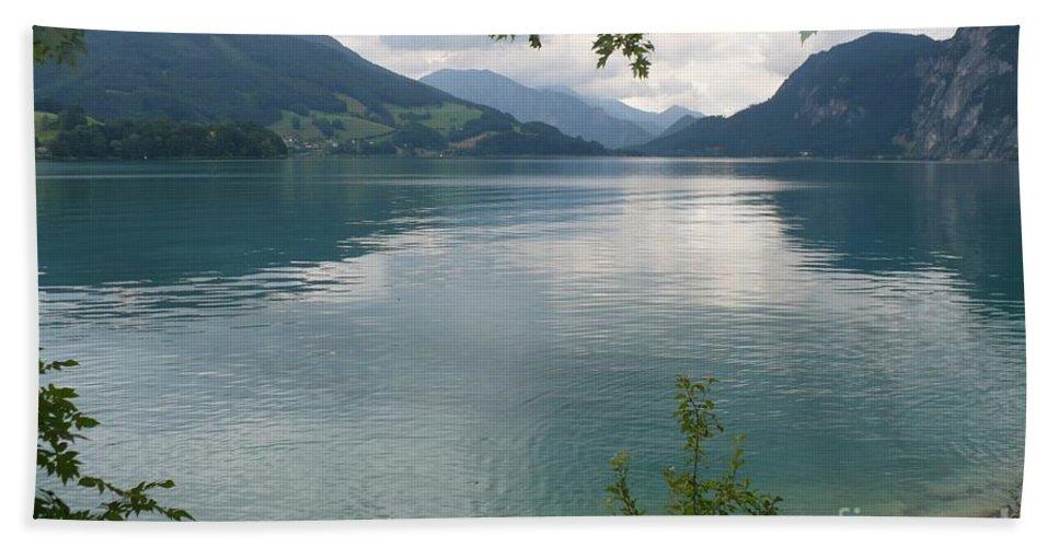 Water Beach Towel featuring the photograph Austrian Lake by Carol Groenen