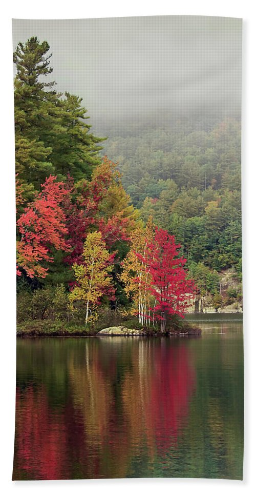 New York Beach Towel featuring the photograph Autumn Breath by Evelina Kremsdorf