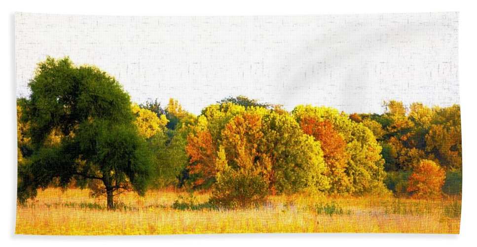 Autumn Beach Towel featuring the photograph Autumn Canvas by Bonfire Photography
