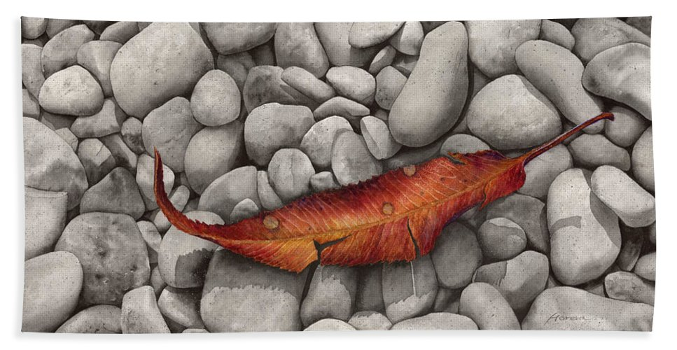 Paintings Beach Towel featuring the painting Autumn Epilogue by Hailey E Herrera
