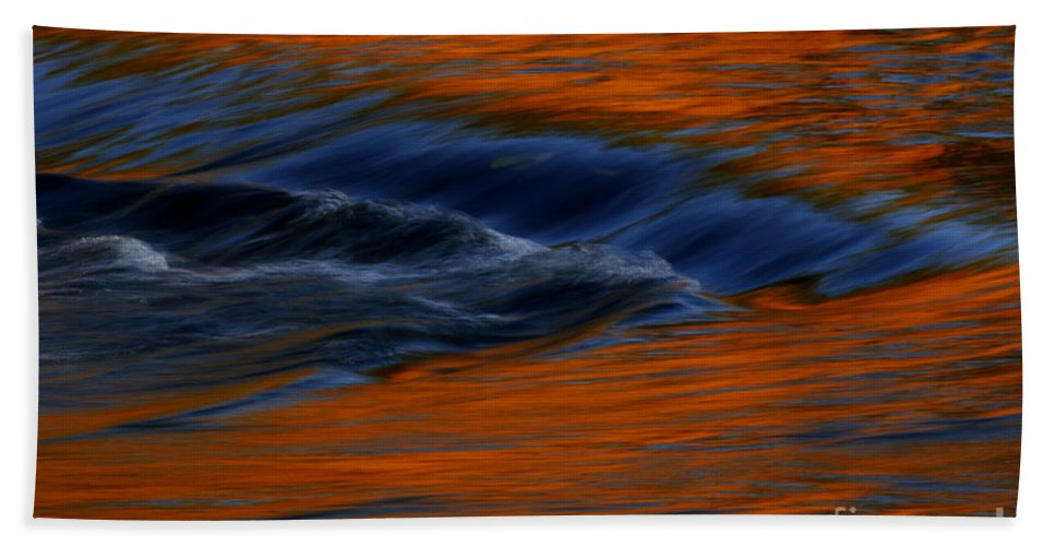 Landscapes Beach Towel featuring the photograph Autumn River by John F Tsumas