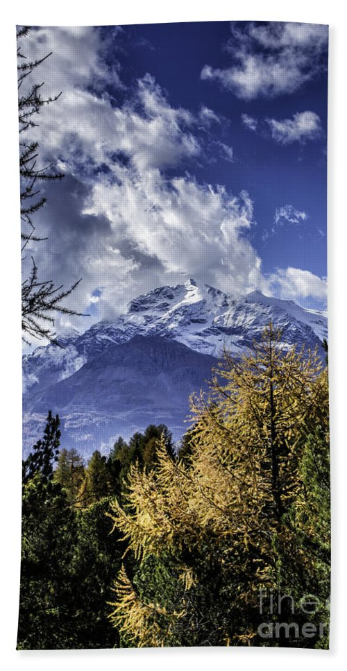 Pontresina Beach Towel featuring the photograph Autumn In The Alps 2 by Timothy Hacker