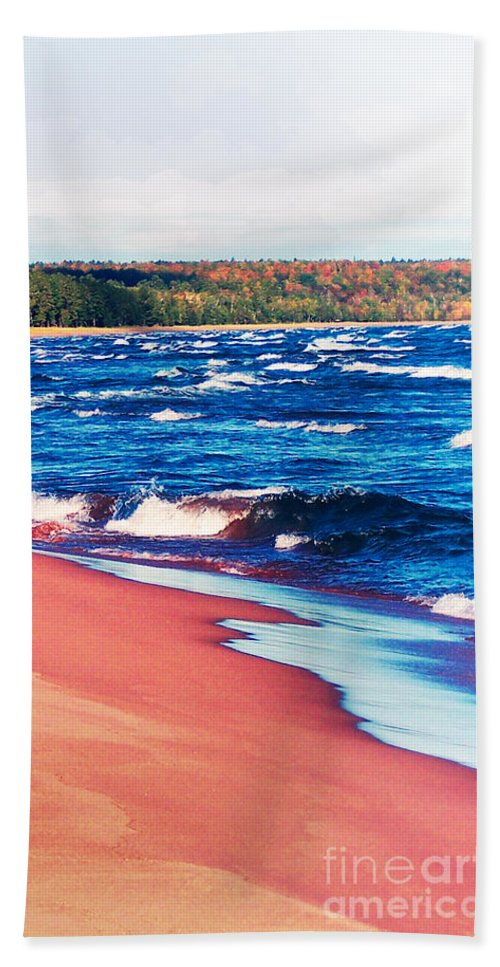 Photography Beach Towel featuring the photograph Autumn On Lake Superior by Phil Perkins