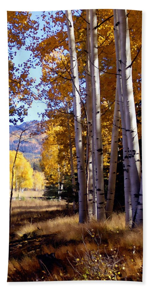 Trees Beach Towel featuring the photograph Autumn Paint Chama New Mexico by Kurt Van Wagner