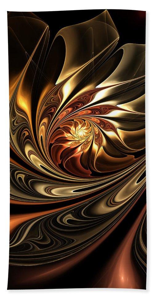 Autumn Beach Towel featuring the digital art Autumn Reverie Abstract by Georgiana Romanovna