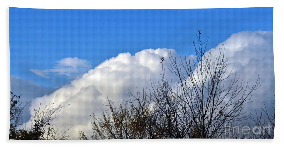 Clouds Beach Towel featuring the photograph Autumn Sky 2 by Judy Wolinsky