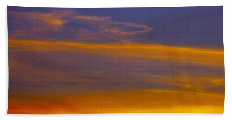 Sky Beach Towel featuring the photograph Autumn Sky Landscape by Gillian Dernie