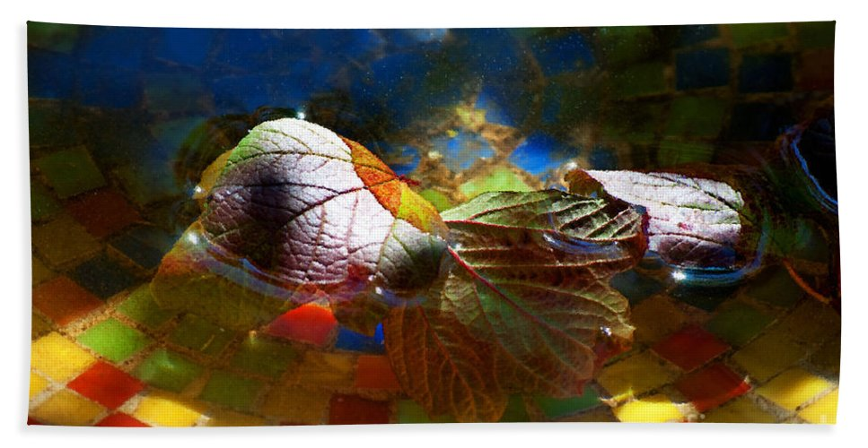 Mosaic Beach Towel featuring the photograph Autumns Mosaic by Gwyn Newcombe