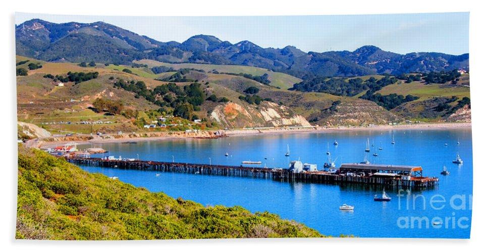 Coastal Photos Beach Towel featuring the photograph Avila Beach California Fishing Pier by Tap On Photo