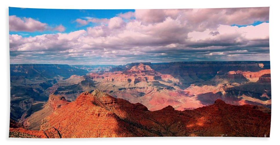 #grandcanyon #nationa L#park #landscape #arizona #travel.tourist.attraction Beach Towel featuring the photograph Awesome View by Kathleen Struckle