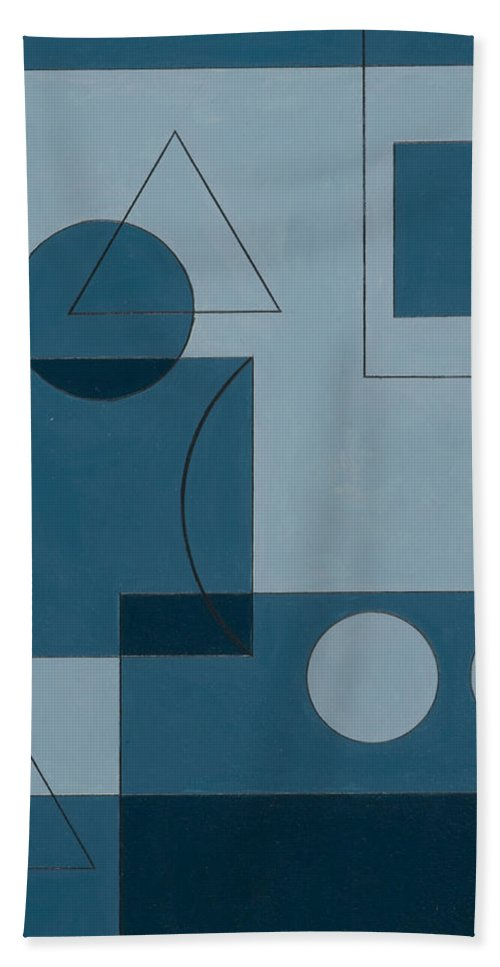Optical Illusion Beach Towel featuring the painting Axiom by Peter Hugo McClure