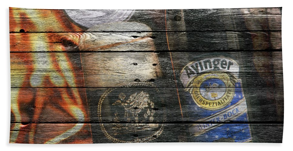 Ayinger Beer Beach Towel featuring the photograph Ayinger Beer by Joe Hamilton