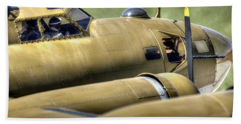 B-17 Beach Towel featuring the photograph B-17 by David Hart
