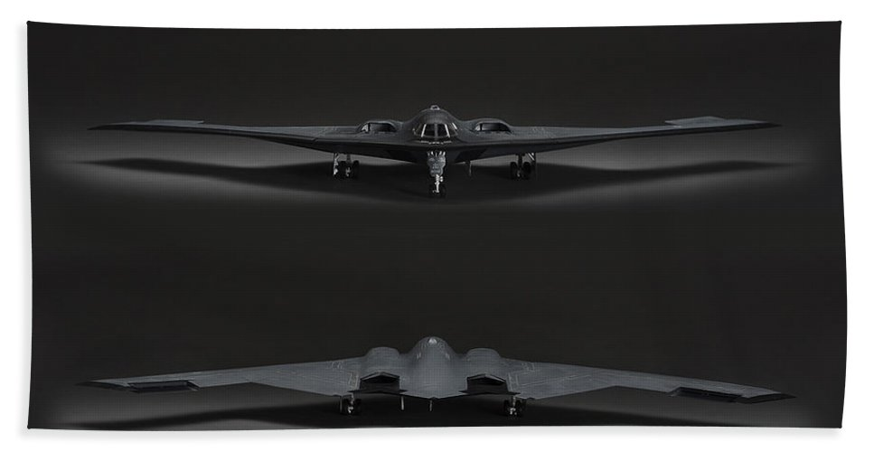 B-2 Stealth Bomber Beach Towel featuring the photograph B-2 Bomber by Robert Mollett