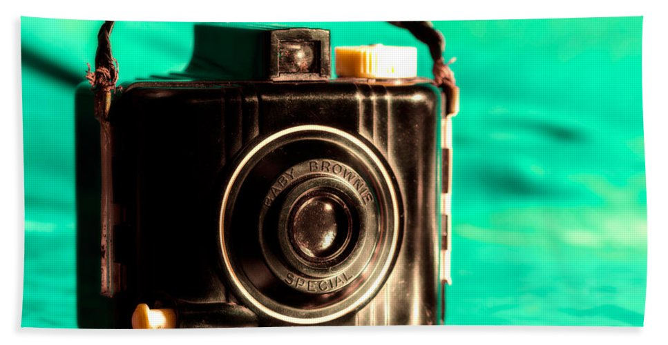 Brownie Camera Beach Towel featuring the photograph Baby Brownie Special by Jon Woodhams