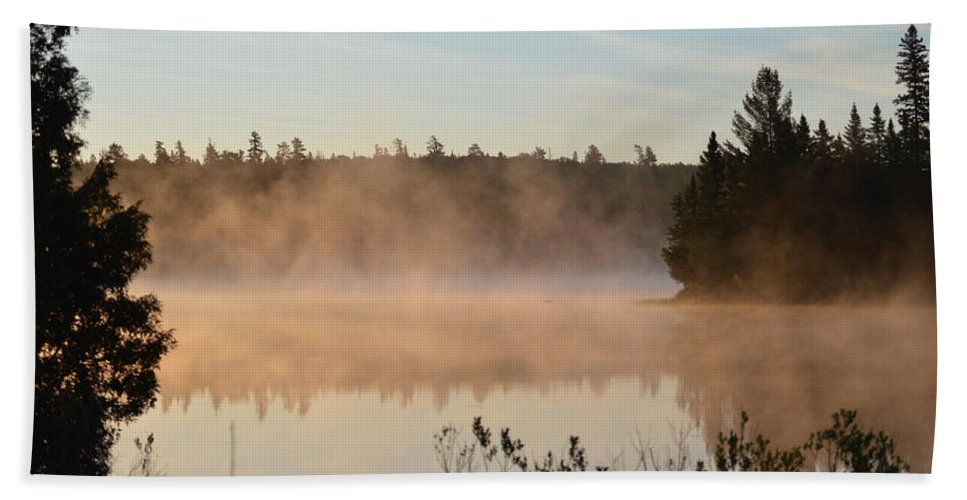 Mist Beach Towel featuring the photograph Back Bay by Thomas Phillips