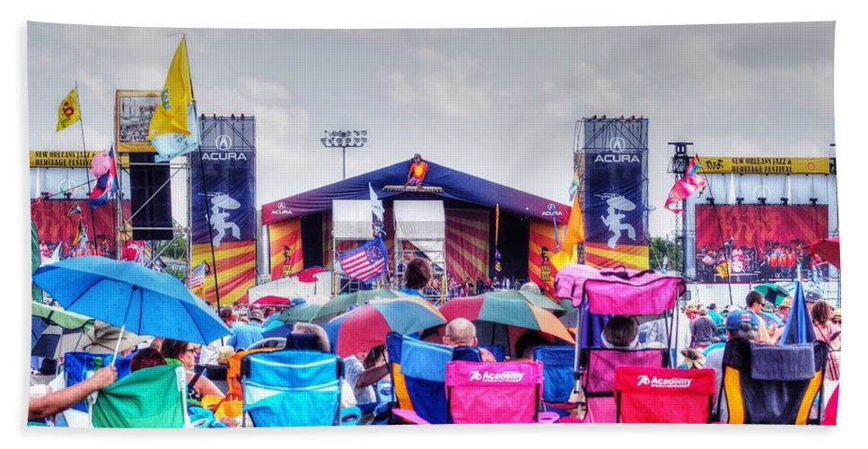 New Orleans Beach Towel featuring the photograph Back Row Seats by William Morgan