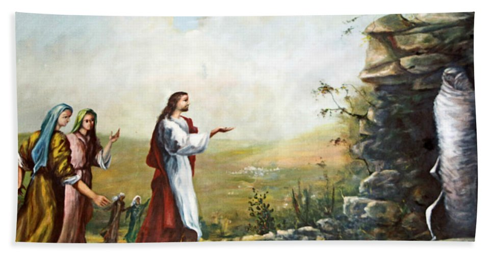 Jesus Beach Towel featuring the photograph Back To Life by Munir Alawi