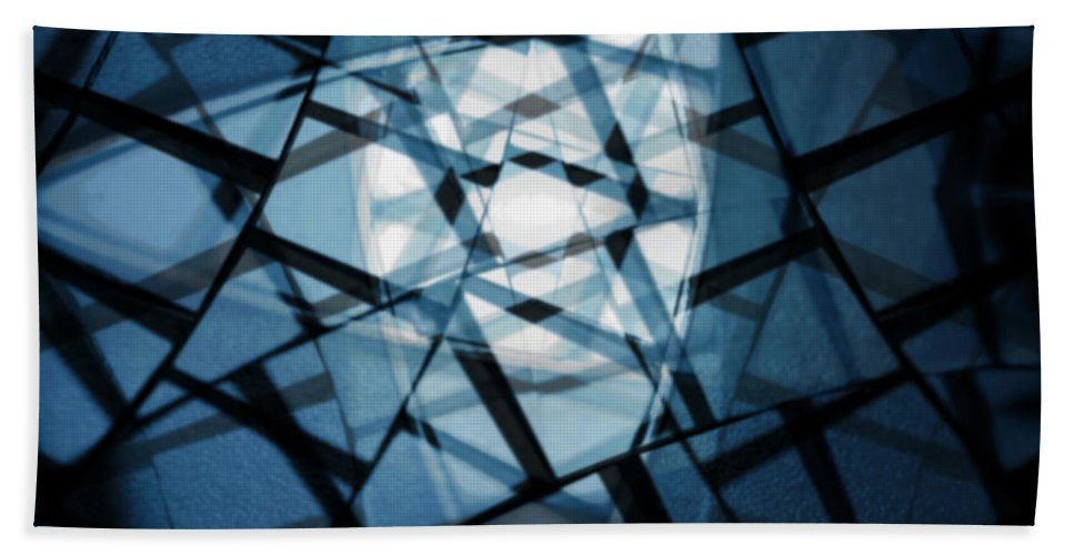 Blue Beach Towel featuring the photograph Background Code by Tim Hester