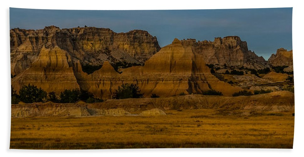 Vertical Beach Towel featuring the photograph Badlands In Color by Paul Freidlund