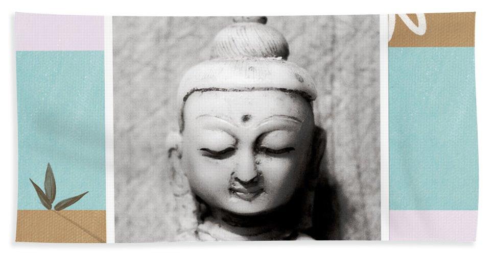Buddha Beach Towel featuring the painting Balance- Zen Art by Linda Woods