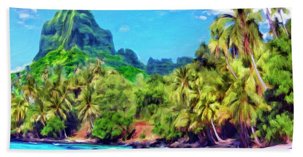 Bali Hai Beach Towel featuring the painting Bali Hai by Dominic Piperata