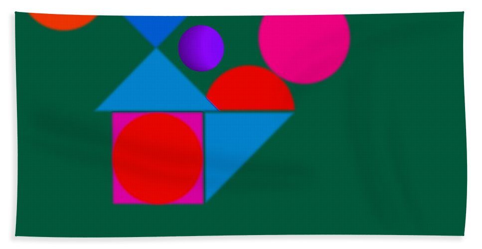 Home Beach Towel featuring the painting Ball Game by Charles Stuart