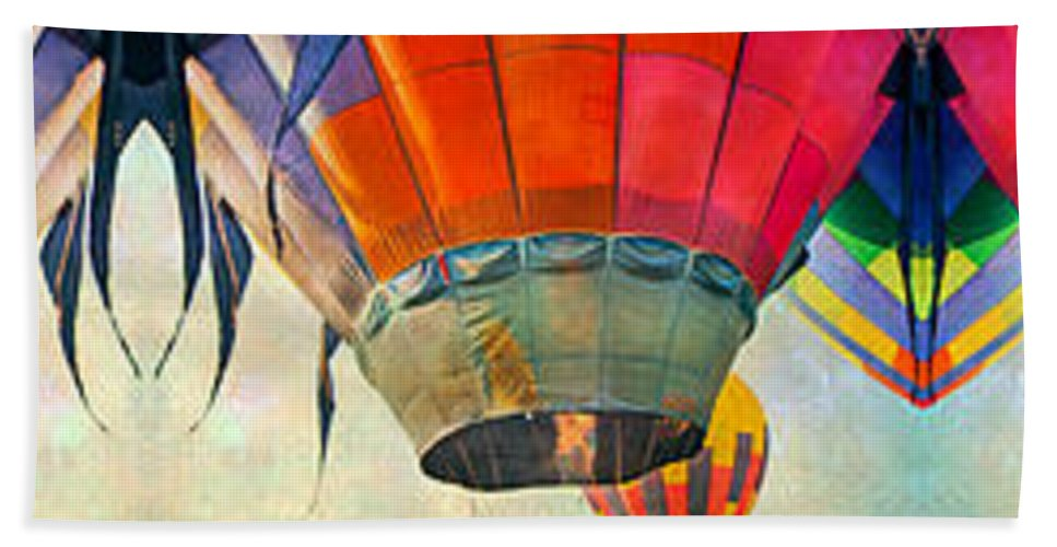 Balloon Beach Towel featuring the digital art Balloon Banner by Betsy Knapp