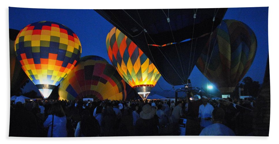 Balloons Beach Towel featuring the digital art Balloons In The Crowd by Ken Waters